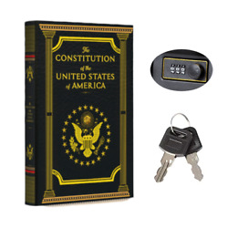 Portable Diversion Book Safe With Secret Compartment Constitution Of The Us