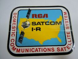 Rca Satcom 1-r Domestic Communications Satellite System Vinyl Sticker-nos
