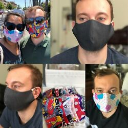 Fashionable Homemade Double Layer Fabric Face Mask Reversible $5.50