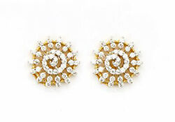 1.68ct Natural Round Diamond 14k Solid Yellow Gold Screw Back Stud Earring