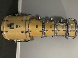yamahe stage costum birch drum set includes symbols and more etc..