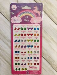 Pink Poppy Stick On Earrings 30 Days Ages 3