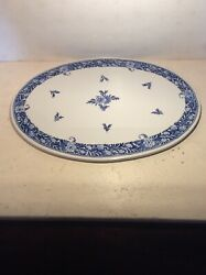 """Blue Delft Signed Limited Edition Platter 14"""" X 10"""" Wonder Wall Hanging Flawless"""