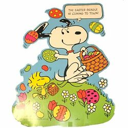 Peanuts quot;Easter Beaglequot; Snoopy Woodstock Hallmark Poster 20x27 Store Display