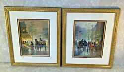 G Harvey Pair Of Giclee Limited Edition Prints Signed 2000 Framed Matted