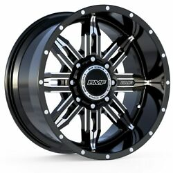 4 20x9 Bmf Black And Milled Roulette Wheels 8x180 For Chevy/gmc 2500hd 3500hd