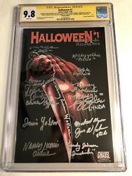 Cgc Ss 9.8 Halloween 1 Variant Cast Signed Castle Soles Loomis Yablans +11