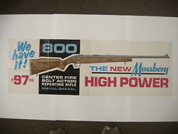 Vintage Mossberg Model 800 Repeating Rifle 97.95 Paper Poster Advertising Sign