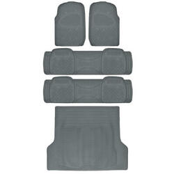All Weather Gray Trimmable Semi Custom Suv Floor Mat +trunk For 3 Row Vehicles