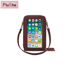 Multifunction RFID Touch Screen Mobile Phone Purse Women Small Crossbody Bags US $13.99