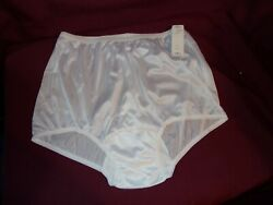 Nylon White Diamond Rear Shiny Panties size 9 new old stock