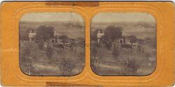 Évreux? France Countryside Stereo Diorama Tissue Vintage Albumin Ca 1865