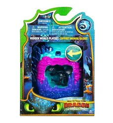 Dreamworks Dragons Hidden World Playset Dragon Lair Collectible Toothless Figure