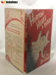 Horton Hears A Who 1954 Dr. Seuss 1st/1st Dj First State Edition Book Vintage