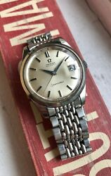 Vintage Omega Seamaster Automatic Cal. 565 W/ Beads Of Rice Bracelet Watch