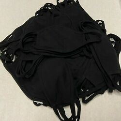 500 Pack Black Cotton Face Mask With Filter Pocket Made In Usa