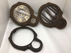 2 1918-1922 Packard Twin Six Headlights Randl And Extra Cover