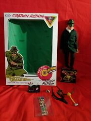 Rare Original Captain America Green Hornet With Flicker Flasher Ring And Stickers
