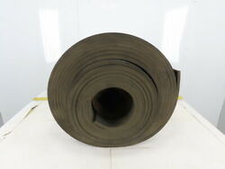 1/2 Thick 3-ply Heavy Duty Black Smooth Rubber Conveyor Belt 40and039l X 24-1/4w