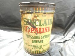 Vintage 1 1 Lb Sinclair Opaline Pressure System Grease Gas Oil Advertising Can