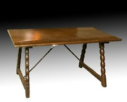 Walnut Dining Table With Wrought Iron Fasteners. 18th Century