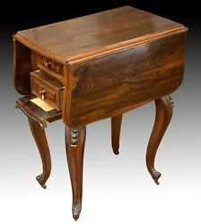 Sewing Table With Wings, Palosanto Or Rosewood Wood, 19th Century.