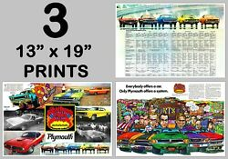 1970 Plymouth Rapid Transit System 3 13x19 Prints Road Runner Gtx And039cuda Duster