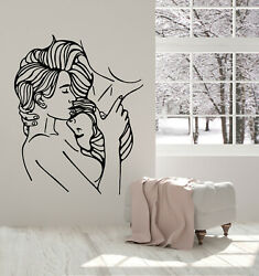 Vinyl Wall Decal Couple in Love Kisses Romance Bedroom Stickers Mural g3055