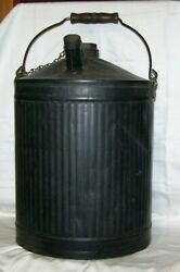 N And W Ry Co Railroad 5 Gallon Oil Can Bail Handle Chained Lid Johnson Urbana O