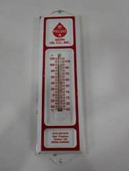 Vintage Phillips 66 Gas Advertising Thermometer Bern Oil Company Kansas Sign