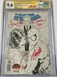 Amazing Spiderman Renew Your Vows 5 Signed Joanie And Stan Lee Quesada Cgc 9.6 Ss