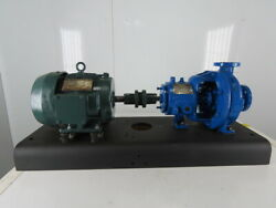 Durco 247pu-313 3hp 1-1/2x1 Stainless Steel Centrifugal Pump Package 230/460v