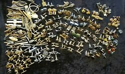 Vintage Men Mixed Jewelry Cuff-links And Tie Pins 47 Sets/205 Singles 3.5+ Pounds