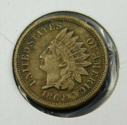 1862 Indian Head Cent Penny, Xf Collector Coin Better Date 675