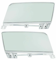 Lh And Rh Complete Tinted Door Glass Assemblies 1967-1968 Ford Mustang Convertible