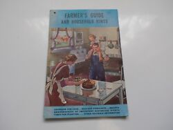 1938 Farmer's Guide And Household Hints Booklet-recipes,times For Planting-l@@k