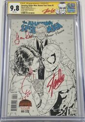 Amazing Spiderman Renew Your Vows 5 Signed Joanie And Stan Lee Quesada Cgc 9.8 Ss