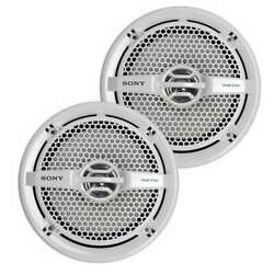 2 Sony 6.5 140w Dual Cone Marine Stereo Speakers, White Open Box 6 Pack