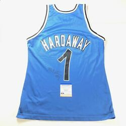 Penny Hardaway Signed Champion Jersey Psa/dna Autographed Anfernee Magic