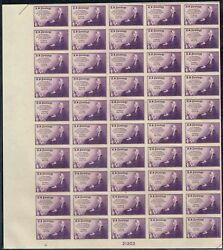 754 Bottom Sheet Of 50 1935 3c Mothers Farley Issue Mint-nh/no Gum As Issued