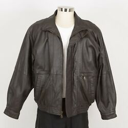Mens David Taylor Leather Jacket Size Xl Quilted Insulated Liner