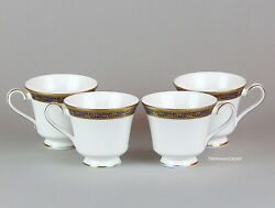Royal Doulton Harlow Set Of 4 Footed Cups, Mint/superb+ Bone China H5034