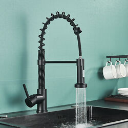 Brass Kitchen Faucet Sink Pull Out Sprayer Oil Rubbed Bronze With Deck Plate