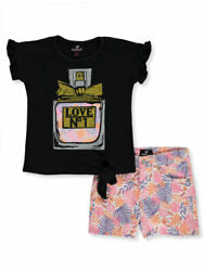 Dollhouse Girls' Love No.1 2-Piece Shorts Set Outfit $18.99