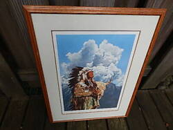 1984 Wood Framed Signed In Pencil Paul Calle 378/950 Print Usa Sale