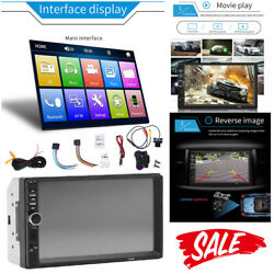 7 Double 2 Din Car Mp5 Player Bluetooth Touch Screen Stereo Radio With Camera