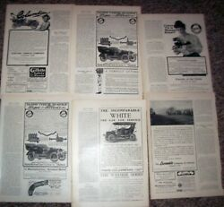 Early Car Ads Early 1906 6 Pgscolumbia,white,pope,locomobile, Harpers Weekly