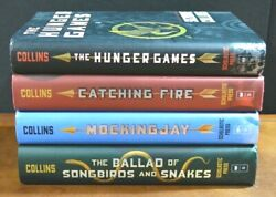 Lot 4 Hbdj The Hunger Games Trilogy Suzanne Collins Catching Fire Mockingjay L2