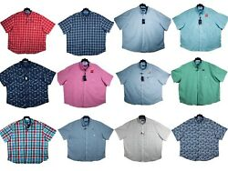 Big And Tall - Chaps Casual Button-down Shirts - Short Sleeve - Size 3x 4x 5x 6x