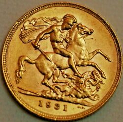 South Africa Gold Sovereign 1931 Sa Mint George V Km 21 R453-l